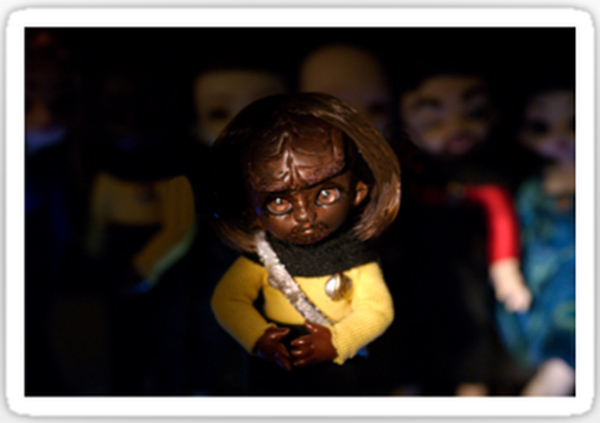 scary worf sticker