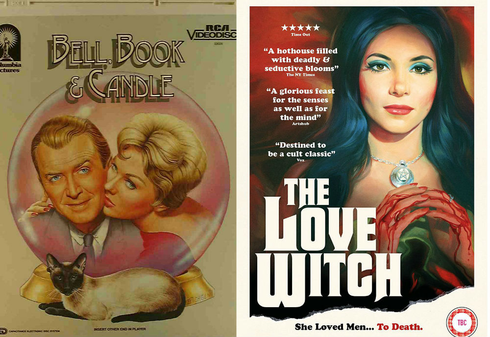 Bell Book and Candle and The Love Witch -- movie posters