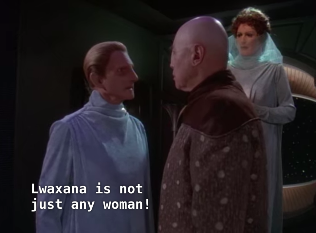 "Goo man: ""Lwaxana is not just any woman!"""