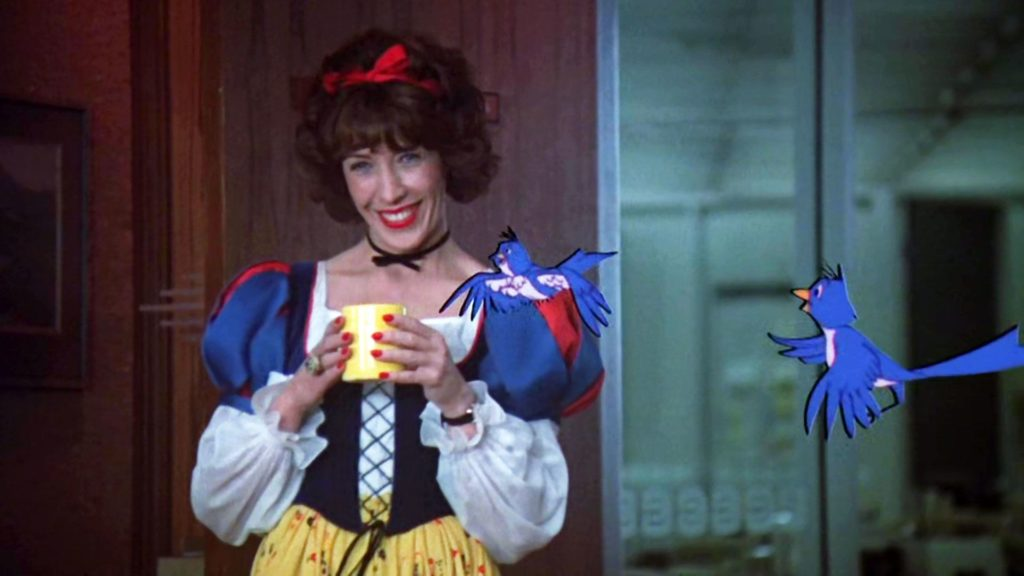 lily tomlin dressed as snow white in 9 to 5